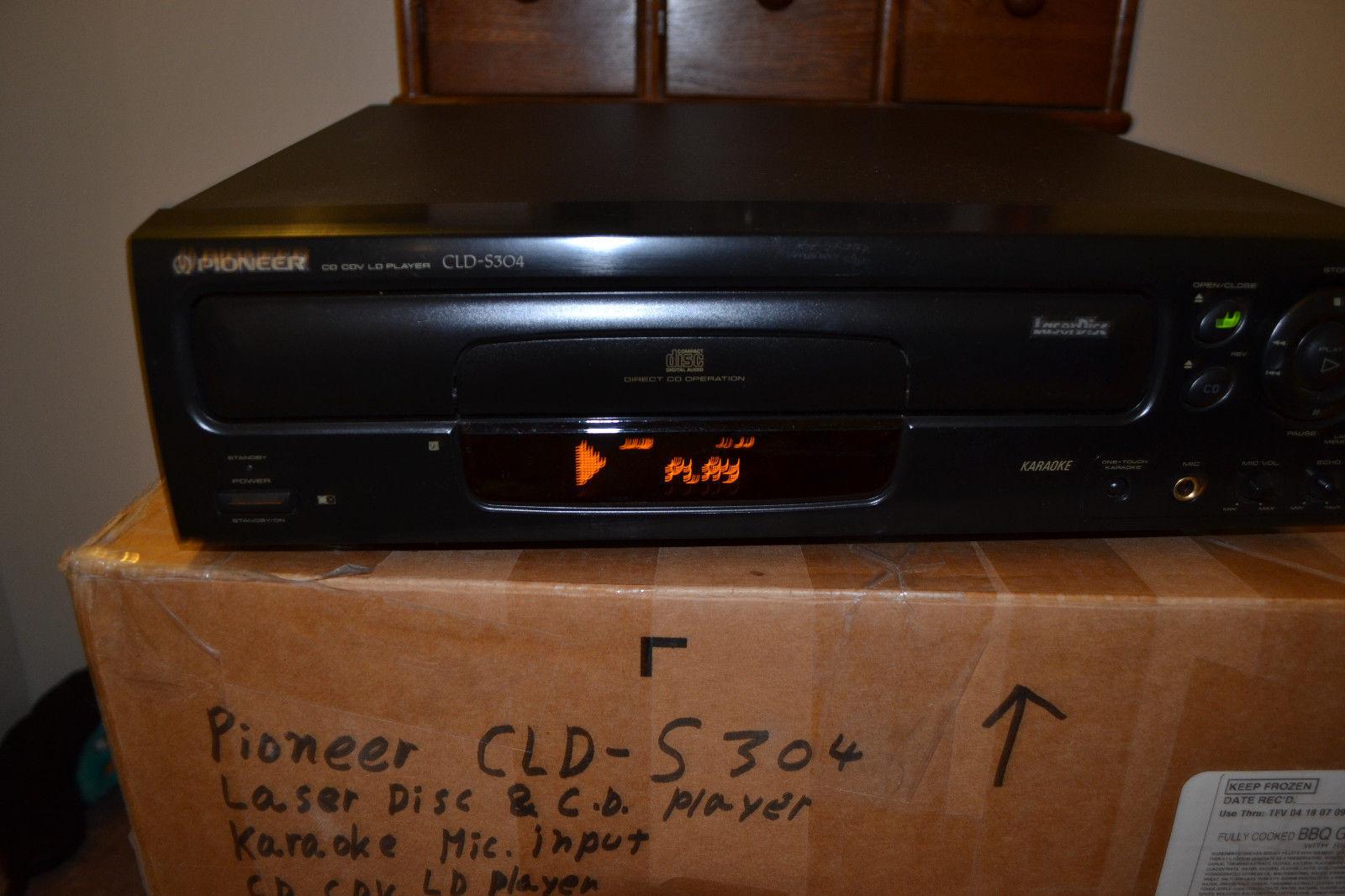 Pioneer CLD S304 Laser Disc player w/ Karaoke
