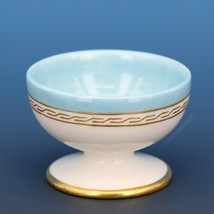 Vintage Open Salt Dip Cellar Footed Old Paris Porcelain French Blue
