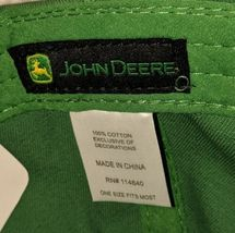 John Deere LP14418 Green Adjustable Baseball Cap With Leaping Deer Logo image 8
