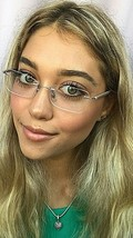 New Ray-Ban RB 9386 4511 LightRay 51mm Rimless Silver Eyeglasses Frame I... - $119.99