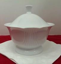 Shumann Bavaria Covered Dish White Serving Bowl Table Accent - $19.99
