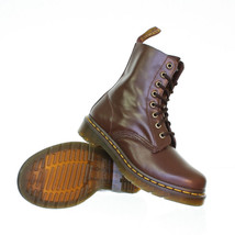 Dr Martens Men Pascal 8 Eye 1460 Leather Brown Oxblood Lace Up Boots Sz 13 - $98.99