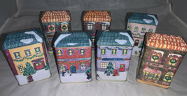 Vintage 1995 Fabri-Centers of America Tin House Town Scented Candles - $42.06