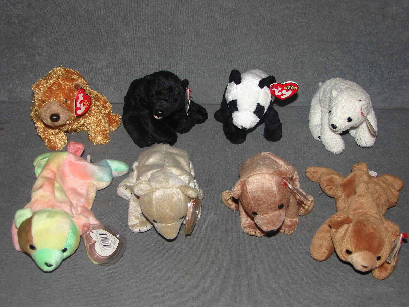 Ty Beanie Babies  8 Bears Cubbie Cinders Sammy China Pecan Aurora ++ NWT -   15.00 61b193c981eb