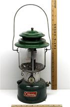 Vintage Coleman 1966 Metal Porcelain Green Lantern 220F 228F 12/66 Pyrex Glass - $46.74