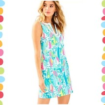 NWT Brand New Lilly Pulitzer Harper Shift Dress Multi Beach And Bae Size... - $128.65