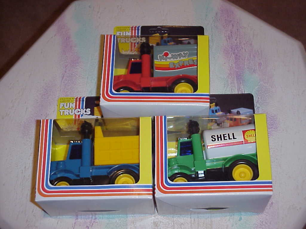 Fun Trucks ,  Gasoline ,  Dump  , Container , Friction Powered , NIB