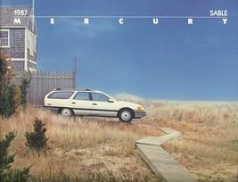 1987 Mercury SABLE sales brochure catalog US 87 GS LS - $6.00