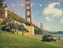 1987 Mercury COUGAR sales brochure catalog US 87 LS XR-7 - $8.00