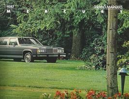 1987 Mercury GRAND MARQUIS sales brochure catalog US 87 LS Colony Park - $8.00