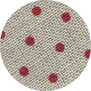 Primary image for FABRIC CUT 32ct natural/red petit point belfast linen Polka Dots&Alphabet chart