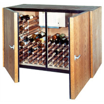 Vinotemp 2 Door Oak Wine Cooler Credenza - $3,337.29