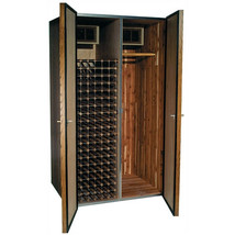 Vinotemp 700 His/Hers Oak Wine Cooler and Fur Storage Cabinet - $6,244.30