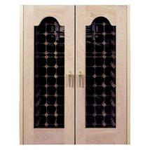 Vinotemp Provincial 2 Door Oak Wine Cooler with Beveled Oval Windows - $4,459.23
