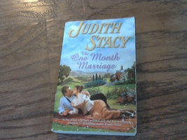 The One Month Marriage By Judith Stacy (2004 Paperback) - $2.00