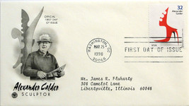 March 25, 1998 First Day of Issue, PC Society Covers, Andrew Calder 1945... - $2.49