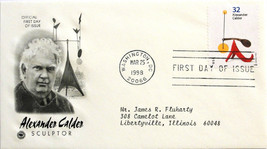 March 25, 1998 First Day of Issue, PC Society Covers, Andrew Calder 1965... - $2.49