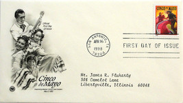 April 16, 1998 First Day of Issue, PC Society Covers, Cinco De Mayo #16 - $2.21