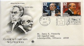 Sept. 12, 1997 First Day of Issue, PC Society Covers, Szell/Ormandy #42 - $1.48