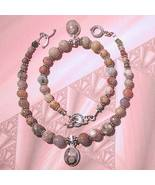 Sterling Silver Assorted Jasper Anklet and Bracelet Set - $46.00