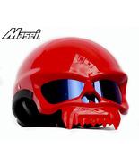Masei 429 Glossy Red Skull Motorcycle Chopper Helmet - $199.00
