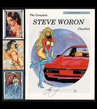 SIGNED Steve Woron's Sexy 1990 CHECKLIST+Vampir... - $21.77