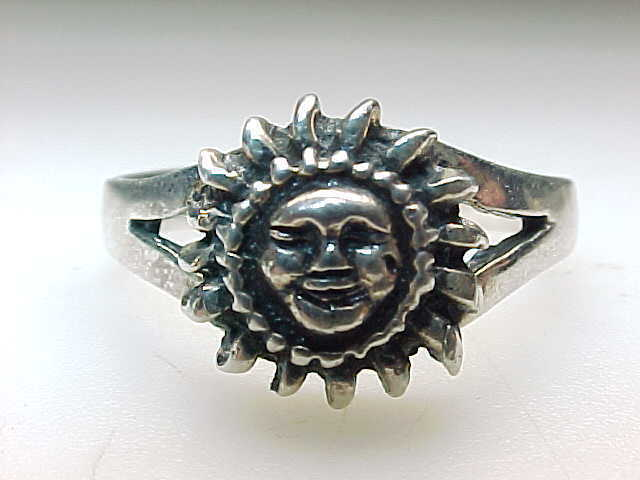 Primary image for SUN STERLING SILVER RING - Size 10 1/4