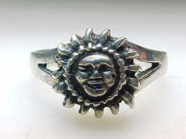 SUN STERLING SILVER RING - Size 10 1/4 - $38.00