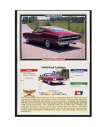 1992 Collect-A-Card Musclecars 1969 FORD TALLADEGA #44 - $0.20