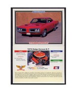1992 Collect-A-Card Musclecars 1970 DODGE CORONET R/T #45 - $0.20