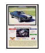 1992 Collect-A-Card Musclecars 1967 FORD SHELBY MUSTANG GT500 #56 - $0.20
