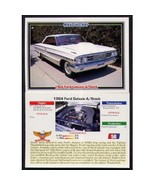 1992 Collect-A-Card Musclecars 1964 FORD GALAXIE A/STOCK #58 - $0.20