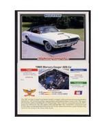1992 Collect-A-Card Musclecars 1969 MERCURY COUGAR 428 CJ #60 - $0.20