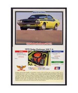 1992 Collect-A-Card Musclecars 1970 DODGE CHALLENGER 340 T/A #63 - $0.20