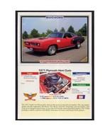 1992 Collect-A-Card Musclecars 1971 PLYMOUTH HEMI CUDA #69 - $0.20