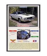 1992 Collect-A-Card Musclecars 1969 MERCURY CYCLONE II #70 - $0.20