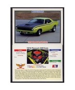 1992 Collect-A-Card Musclecars 1970 PLYMOUTH AAR CUDA #75 - $0.20