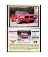 1992 Collect-A-Card Musclecars 1970 PONTIAC GTO JUDGE #86 - $0.20