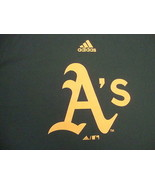 Oakland A's Athletics adidas climalite T Shirt Youth L  - $9.89