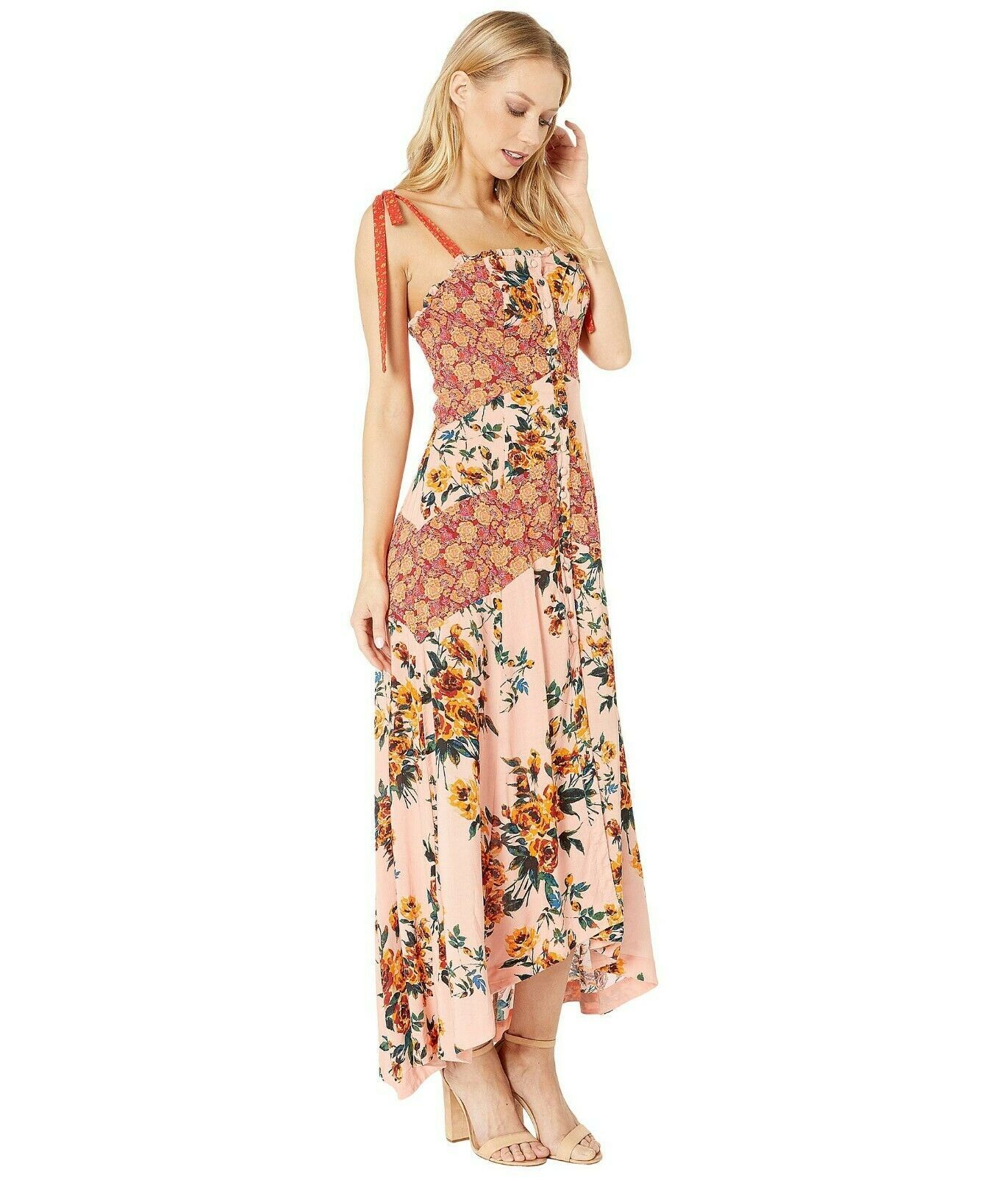 Free People Lover Boy Floral Print Button Front Maxi Dress MSRP: $148.00