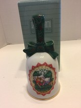 Vintage Avon Waiting For Santa Porcelain Bell Mice 1990 - $5.89