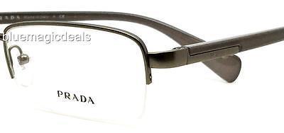 Prada large/53mm Hald Rimless Eyeglass Frame/Lens VPR 57O 7CQ-1O1/499