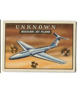 1952 Topps Wings UNKNOWN RUSSIAN JET PLANE #135 GD/VG - $3.99