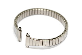 Speidel 11-14MM Short Silver Stainless Steel Expansion Strap Watch Band - $19.79