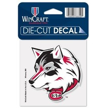 """St. Cloud State Huskies Official NCAA 4""""x4"""" Die Cut Car Decal by Wincraft - $1.22"""