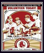 Boston Red Sox Poster 4 Volunteer Today 2008 Dunkin Donuts P - $8.95
