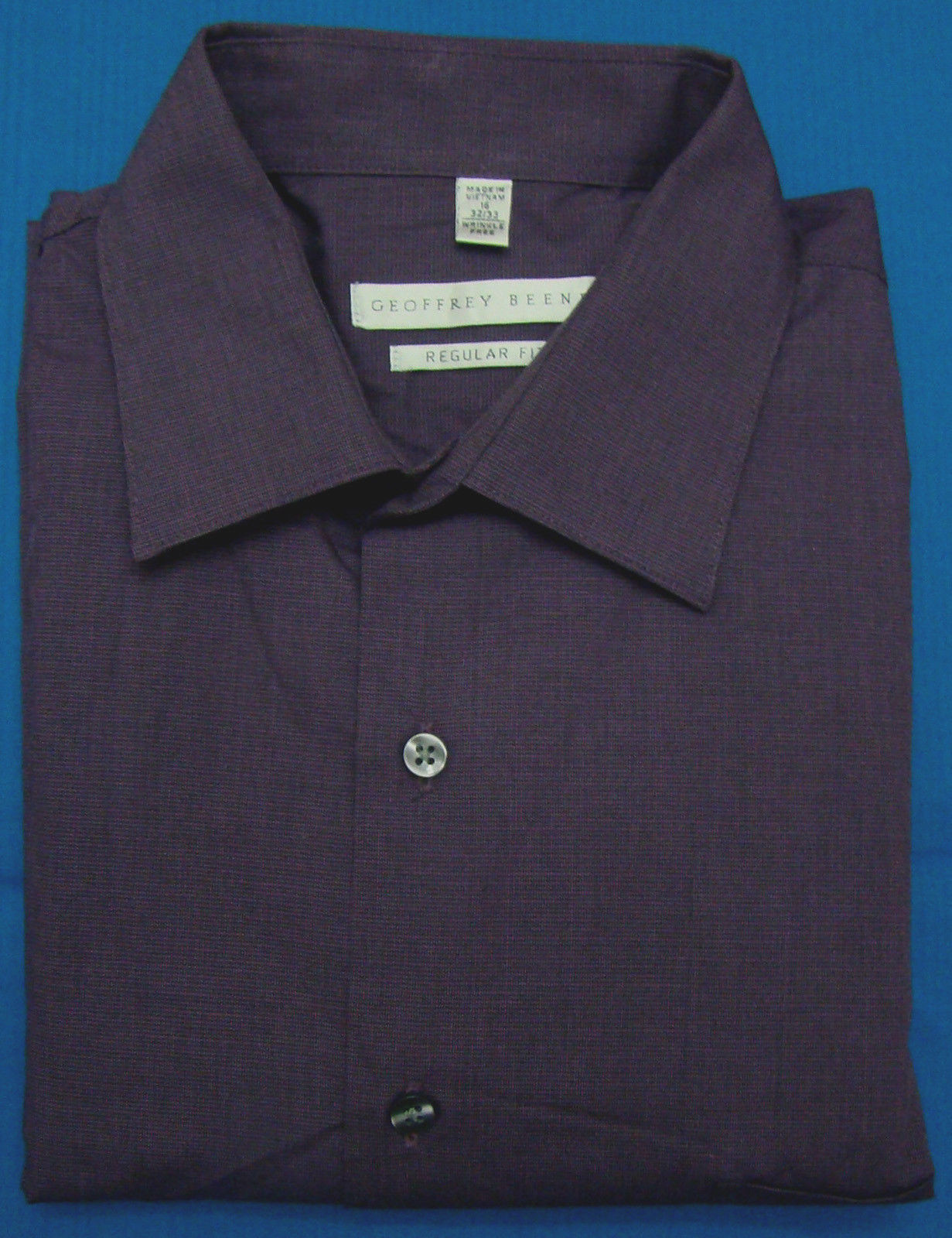 Geoffrey Beene Eggplant Check Regular Fit Long Sleeve
