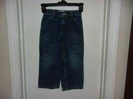 Gap Carpenter Denim Blue Jeans Boys Size 4 Adjustable Waist - $9.79