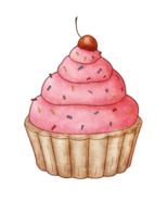 Bubblegum Cupcake Collage--Digital Download-ClipArt-Art Clip - $4.00