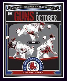 Boston Red Sox Poster 3 Gun Of October 2008 Dunkin Donuts